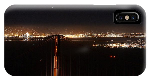 Two Bridges At Night IPhone Case