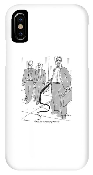 Two Businessmen Comment On A Third IPhone Case