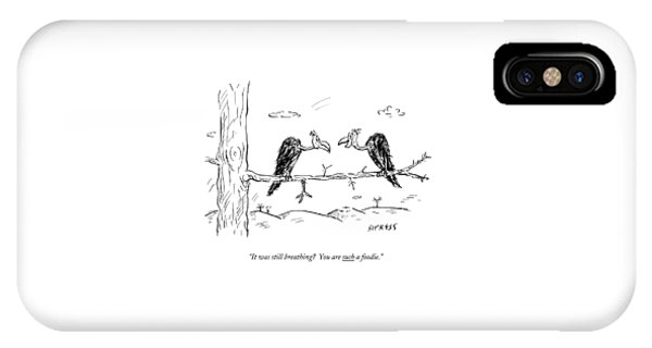 Two Buzzards Sit And Talk On A Branch IPhone Case