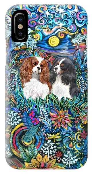 Two Cavaliers In A Garden IPhone Case