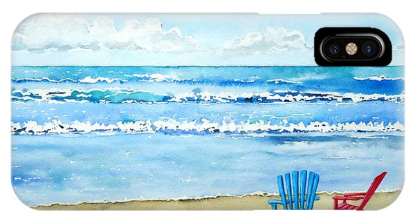 Two Chairs At The Beach IPhone Case