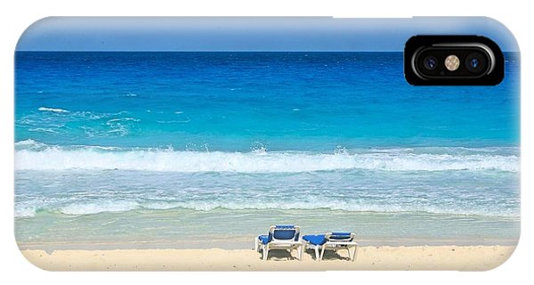 Two Chairs On Cancun Beach IPhone Case