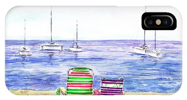 Two Chairs On The Beach IPhone Case