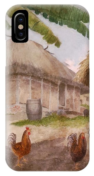 Two Chickens Two Pigs And Huts Jamaica IPhone Case