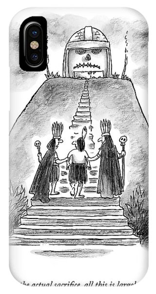 Ceremony iPhone Case - Two Chieftains Lead A Native Up The Stairs by Frank Cotham
