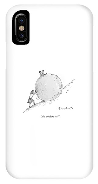 Two Children Sit At The Top Of Sisyphus's Boulder IPhone Case