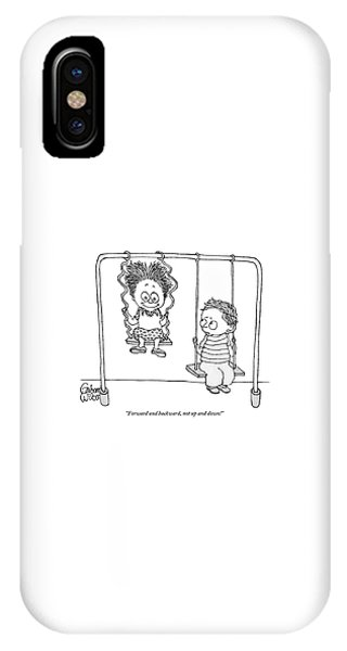 Two Children Sit On Swings IPhone Case