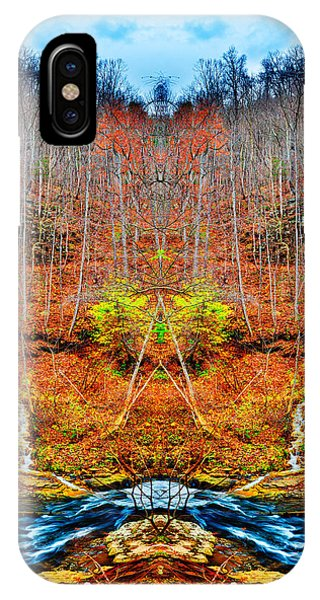 Two Converging Water Falls IPhone Case