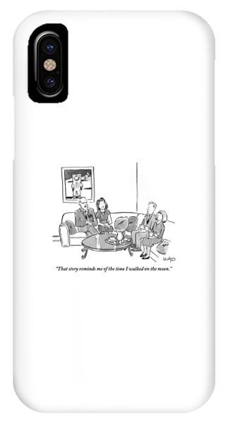 Two Couples Sit Drinking Tea In A Living Room IPhone Case