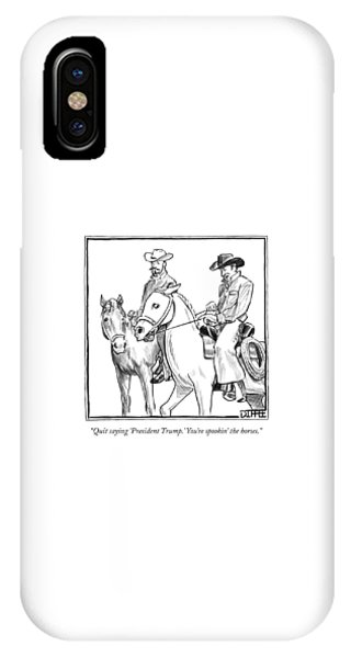 Two Cowboys On Horseback Converse IPhone Case