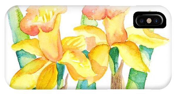Two Daffodils IPhone Case