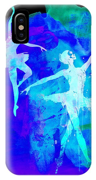 Musical iPhone Case - Two Dancing Ballerinas  by Naxart Studio