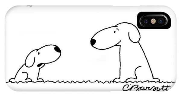 Two Dogs Are Seen Talking To Each Other IPhone Case