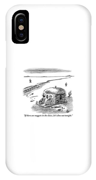 Bone iPhone Case - Two Farmers Sit Outside Their Hut Staring by Frank Cotham