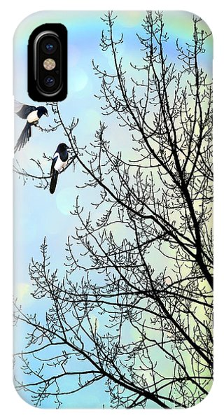 Magpies iPhone Case - Two For Joy by John Edwards