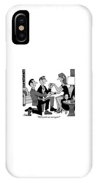 Two Gay Men Are Kneeling On The Floor IPhone Case