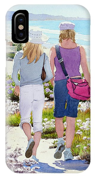 Two Girls At Dog Beach Del Mar IPhone Case