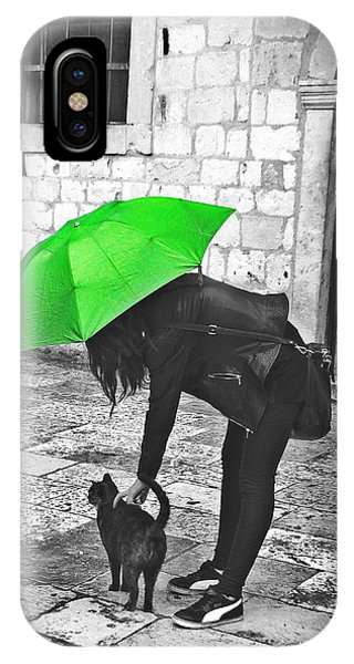 Two Girls Under Umbrella IPhone Case