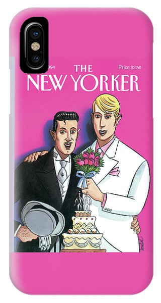 Two Grooms At Their Wedding Infront IPhone Case
