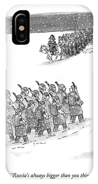 Two Groups Of Army Troops Walk In Opposite IPhone X Case