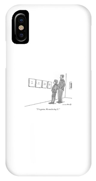 Two Hip-looking People In A Gallery IPhone Case