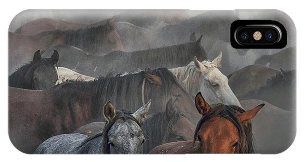 Two Horses Phone Case by H??seyin Ta??k??n