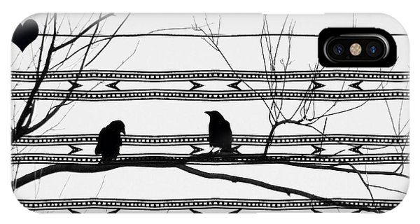 Avian iPhone Case - Two Is Better by Gothicrow Images