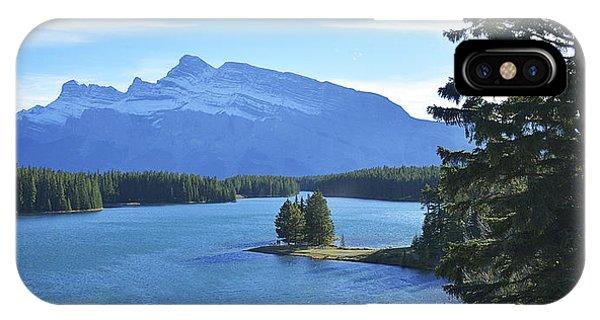Sherri iPhone Case - Two Jack Lake Banff by Sherri Abell