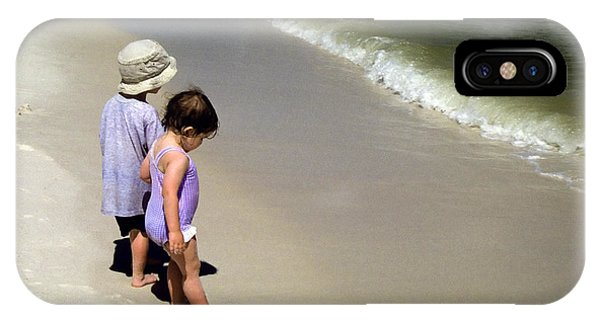 Two Kids At The Beach IPhone Case