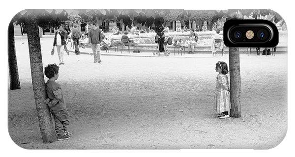 Two Kids In Paris IPhone Case