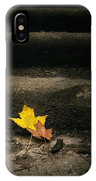 Change iPhone Case - Two Leaves On A Staircase by Scott Norris
