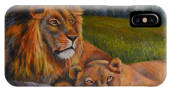 Two Lions Phone Case by Jana Baker