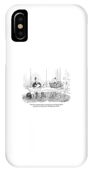 Two Lone Corporate Lawyers Sitting IPhone Case