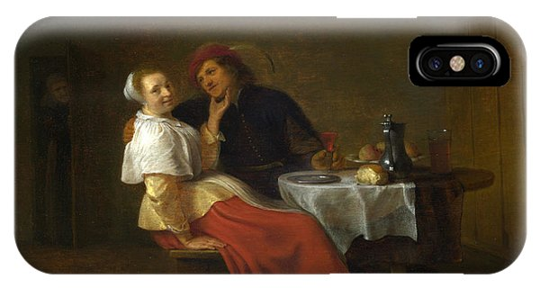 Table For Two iPhone Case - Two Lovers At Table by Hendrick Sorgh