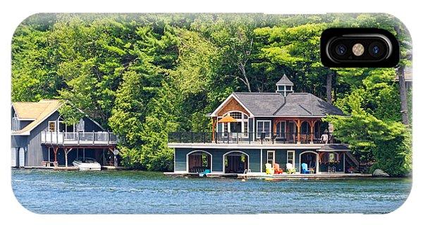 Two Luxury Boathouses IPhone Case