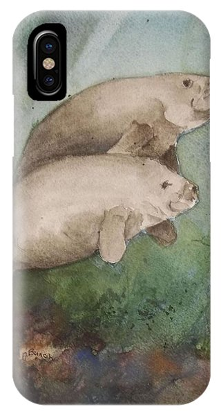 Two Manatee IPhone Case