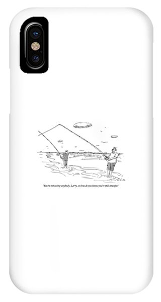 Two Men Are Seen Fishing And Speaking With Each IPhone Case