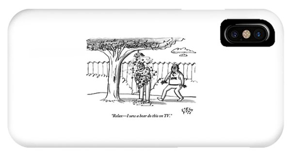 Two Men Are Seen In A Backyard IPhone Case
