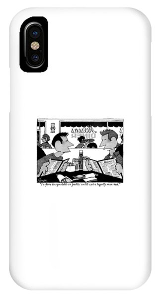 Two Men Are Seen Sitting In A Restaurant IPhone Case