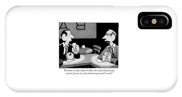 Two Men Are Seen Speaking At A Bar IPhone Case
