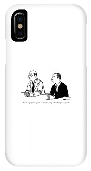 Two Men Are Seen Speaking With Each Other IPhone Case