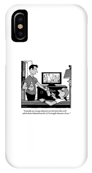 Two Men Are Seen Talking In A Living Room IPhone Case