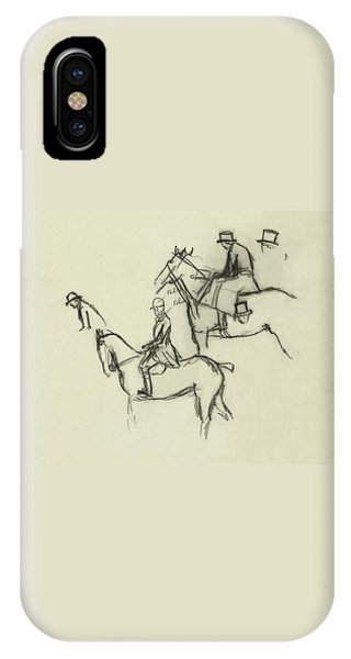 Two Men Horse Riding IPhone Case