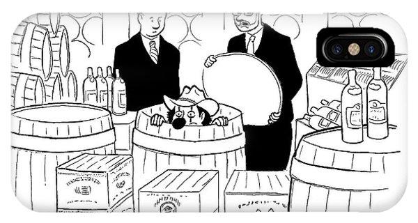 Two Men In A Wine Cellar Find A Clown In One IPhone Case