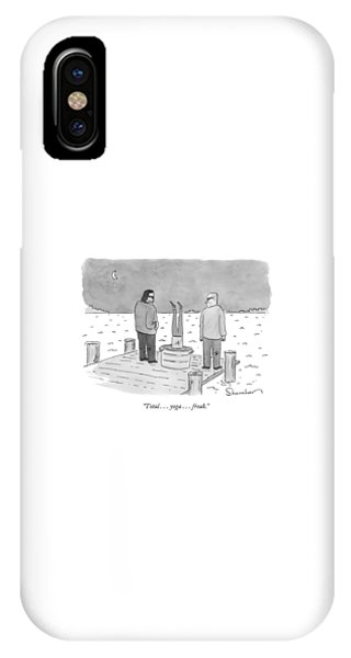 Two Mobsters Next To A Body IPhone Case