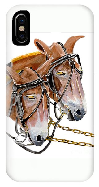 Two Mules - Enhanced Color - Farmer's Friend IPhone Case