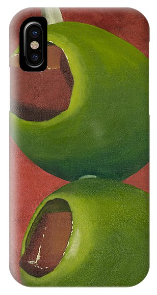 Bloody Mary iPhone Case - Two Olives In Search Of A Bloody Mary by Garry McMichael