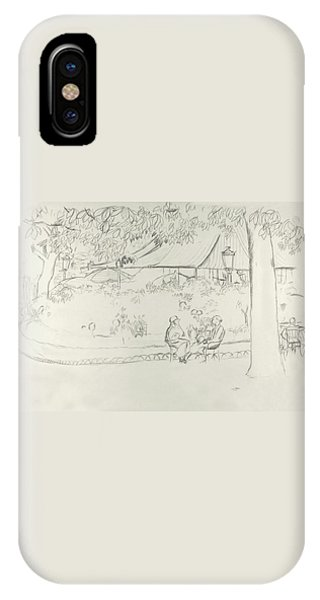 Two People At A Small Park IPhone Case