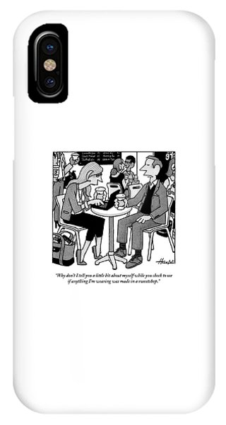 Two People Sitting At A Table Drinking Coffee IPhone Case