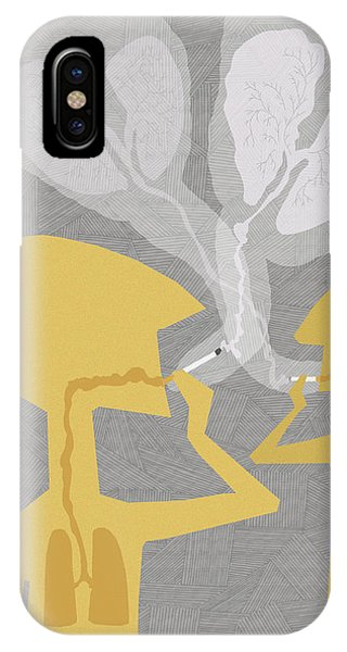 Two People Smoking Cigarettes Phone Case by Fanatic Studio / Science Photo Library